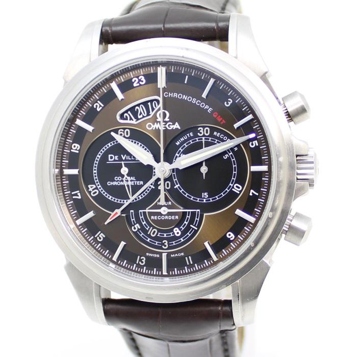 【中古】オメガ デヴィル クロノスコープ コーアクシャル GMT 腕時計 ステンレス 自動巻き AT 422.13.44.52.13.001