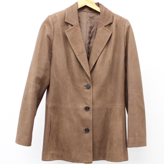 【中古】LOEWE レディース テーラード ジャケット 羊革 サイズ:40