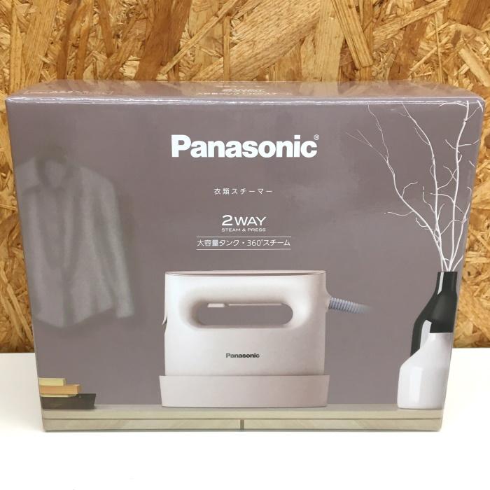 Panasonic 未使用 新品未使用正規品 中古 パナソニック 即出荷 衣類スチーマー jgg 360°スチーム ベージュ NI-CFS770-C