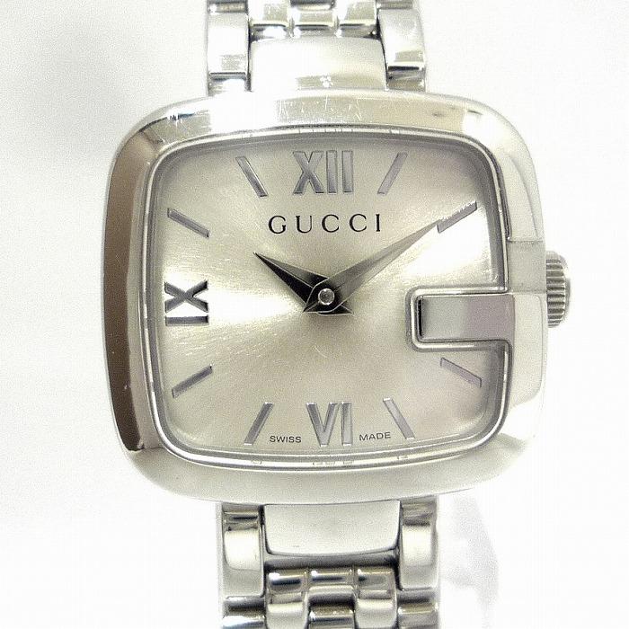 【中古】GUCCI GGUCCI レディース腕時計 SS クオーツ 文字盤シルバー 125.5/YA125517-N