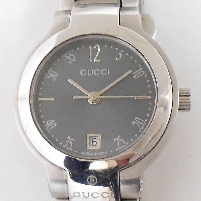 【中古】GUCCI レディース腕時計 8900L クオーツ グレー文字盤 SS シルバー
