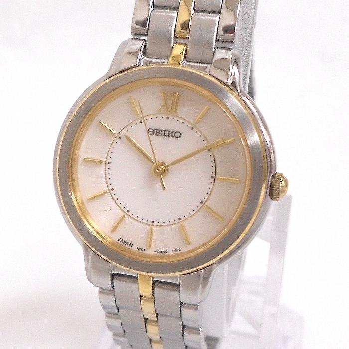 【中古】セイコー スピリット レディース腕時計 クオーツ アイボリー文字盤 SS/GP アナログ SSDA005/1N01-0AP0