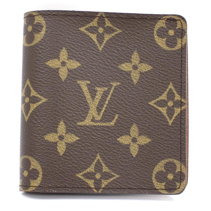 【中古】LOUIS VUITTON ポルトビエカルトブルー 二つ折り札入れ カードケース モノグラム M60905