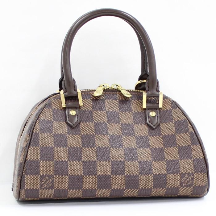 【中古】LOUIS VUITTON リベラミニ ハンドバッグ ダミエ エベヌ N41436