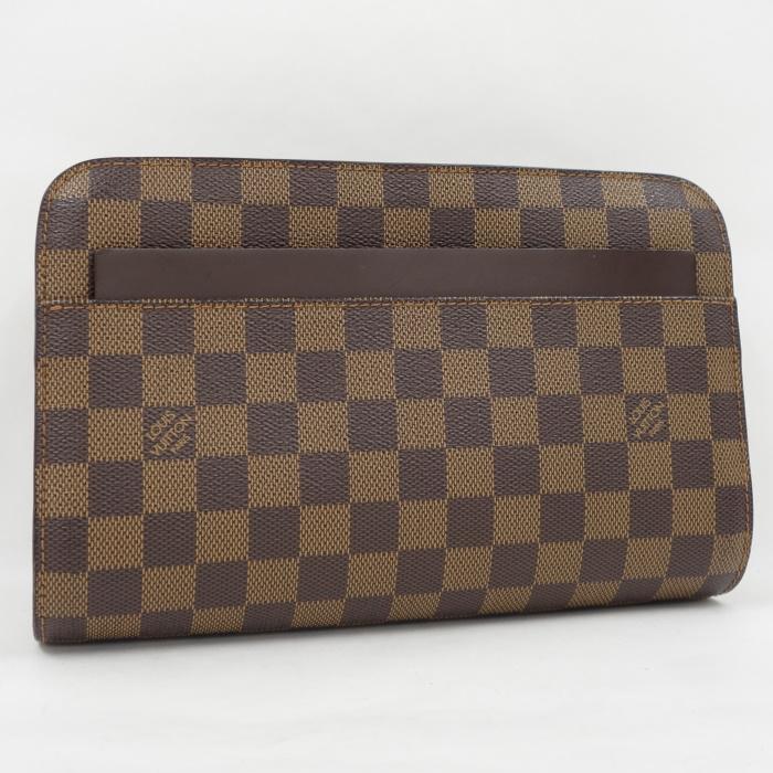 【中古】LOUIS VUITTON サンルイ セカンドバッグ ダミエ エベヌ N51993
