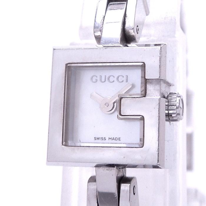 【中古】GUCCI Gミニ レディース腕時計 クォーツ SS シェル文字盤 102