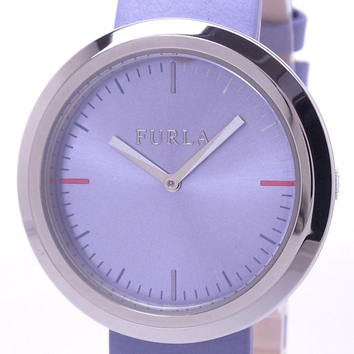 【中古】フルラ バレンティナ レディース腕時計 クォーツ SS パープル文字盤 R4251103511