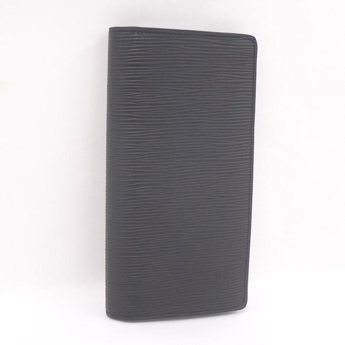 【中古】 LOUIS VUITTON 二つ折り長財布 ポルトフォイユ ブラザ エピ ノワール/黒 M60622