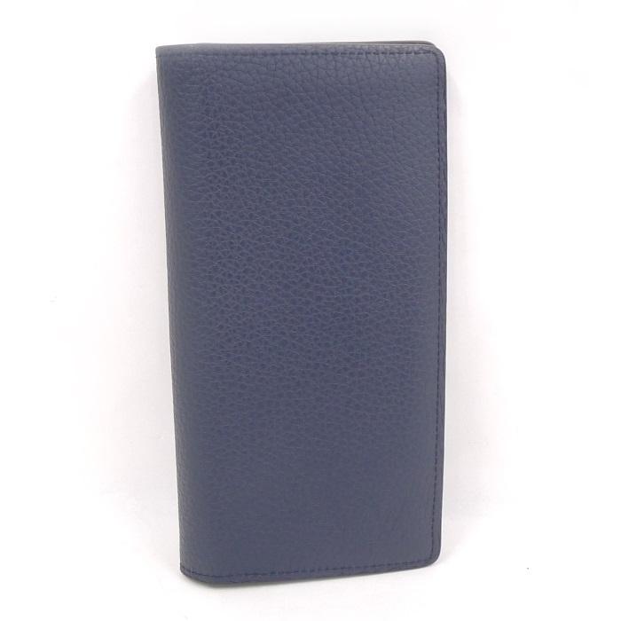 【中古】 LOUIS VUITTON 二つ折り長財布 ポルトフォイユ ブラザ トリヨンレザー オセアン/ネイビー M58818