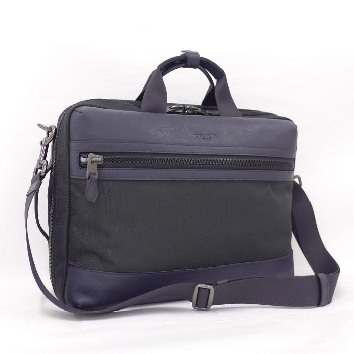 【中古】COACH 3WAYバッグ ブリーフケース テレイン コンバーチブル バックパック ブラック キャンバス F59944