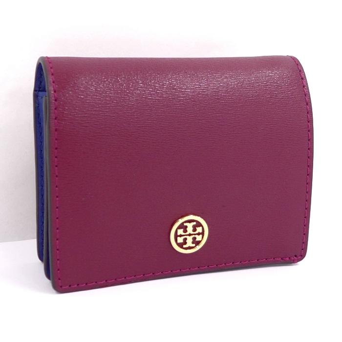 【中古】 二つ折り財布 パーカー ボルドー/ネイビー レザー 36986