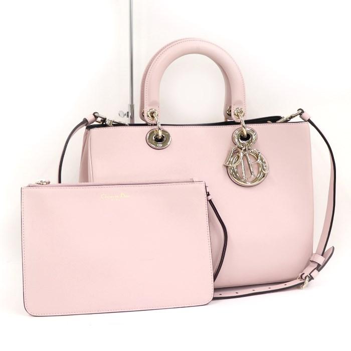 【中古】 Christian Dior 2WAYショルダーバッグ ディオリッシモ ピンク レザー M9091