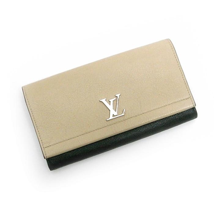 超歓迎 LOUIS VUITTON 二つ折り長財布 ポルトフォイユロックミー2 ベージュ レザー M62328, ベネチアングラス La zanze c8c76071