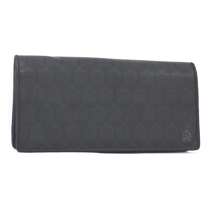 DUNHILL 長財布 【中古】dunhill 二つ折り長財布 ウインザー PVC ブラック L2PA10A