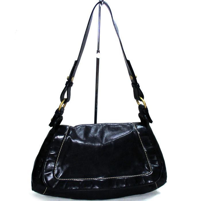 BALLY 肩がけバッグ 中古 バリー 人気ブランド多数対象 爆買い送料無料 ショルダーバッグ レザー ブラック