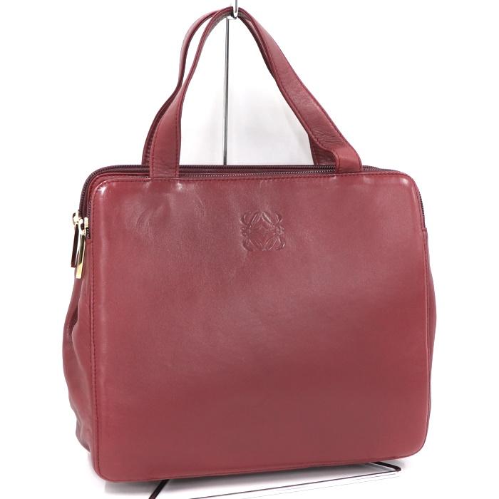 世界有名な ロエベ ハンドバッグ アナグラム レザー ボルドー, 作務衣専門店こうたりや f362d085