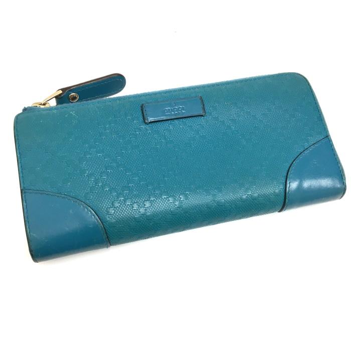 正式的 GUCCI ディアマンテ L字ファスナー 長財布 ブルー 354488, oasis style 82d6e597