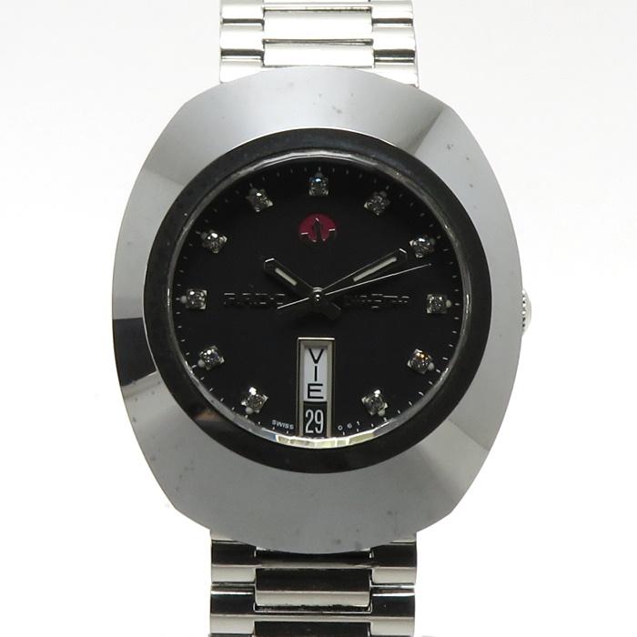 RADO ダイアスター 中古 ラドー メンズ腕時計 ダイヤスター 648.0408.3 お金を節約 11PD 激安通販販売 デイデイト ブラックダイアル 自動巻き SS