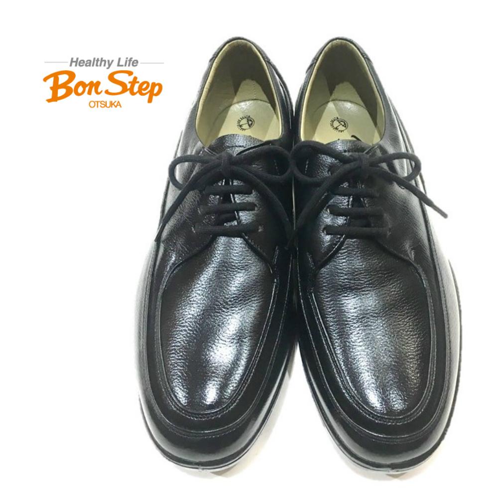 ボンステップ(Bon Step) メンズ ビジネスシューズ 幅広4E 品番 5056 クロ 定番 大塚製靴撥水加工革