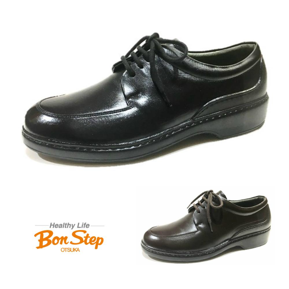 ボンステップ(Bon Step) メンズ ビジネスシューズ 外羽根Uチップ 品番5474 色クロ・ダークブラウン撥水加工革 / 日本製 / 大塚製靴 限定商品