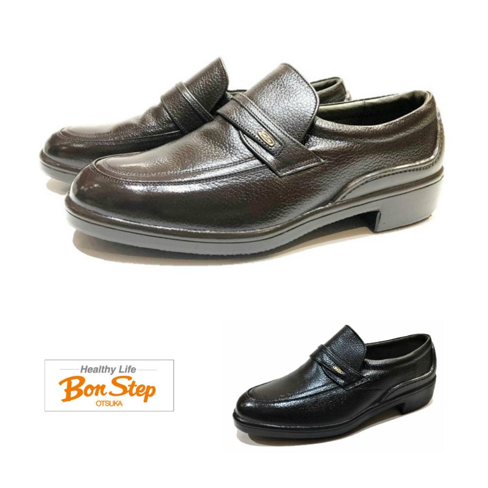 ボンステップ(Bon Step) メンズ 靴 ビジネスシューズ スリッポン品番2201 色クロ・ダークブラウン 幅3E 定番 撥水加工 大塚製靴