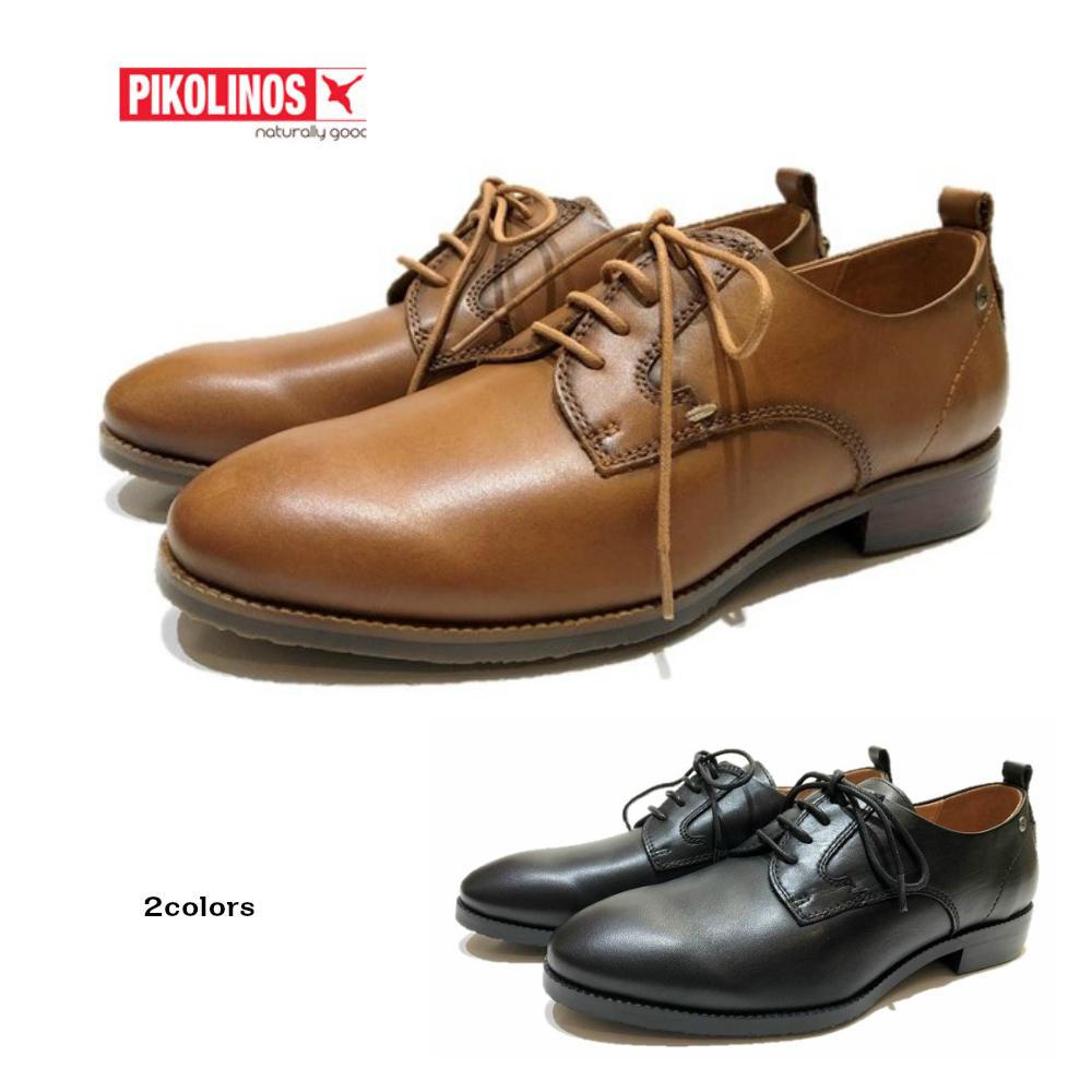ピコリノス 【PIKOLINOS】 レディース 靴 レースアップシューズ PK-810 ブラック・ブラウン 幅2E マニッシュ トラッド