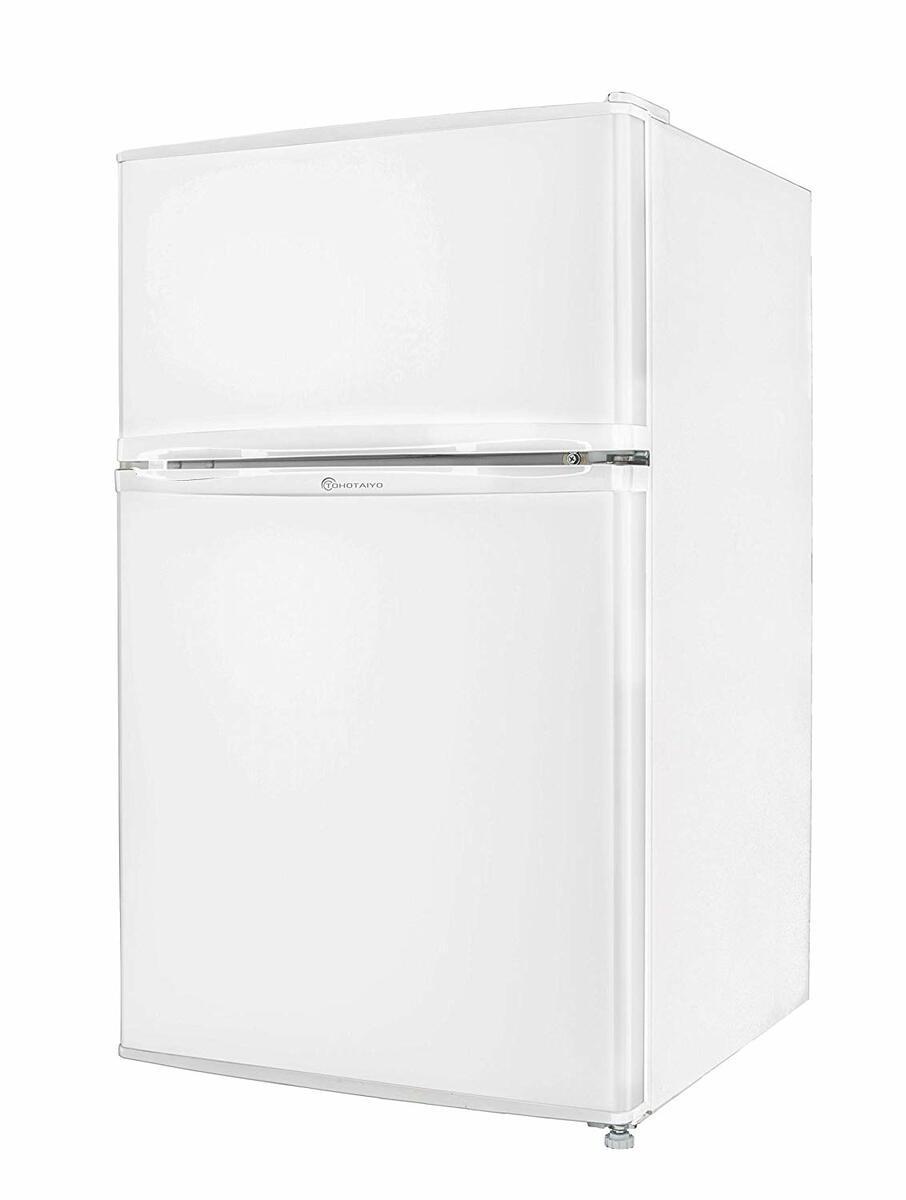冷蔵庫 2ドア 小型 90L 一人暮らし 新品 【左右開き対応】TH-90L2-WH TOHOTAIYO ホワイト【smtb-k】【ky】【KK9N0D18P】
