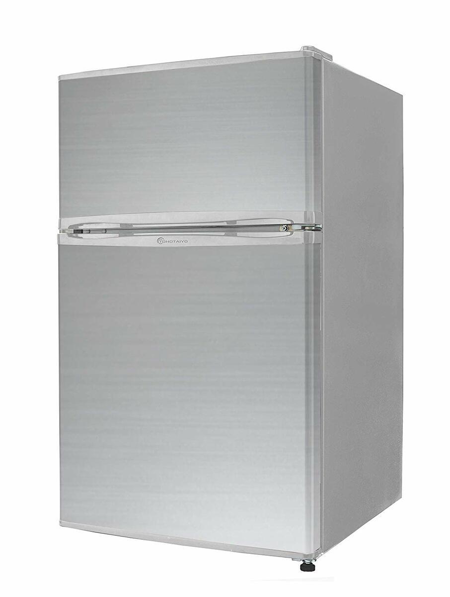 冷蔵庫 2ドア 小型 90L 一人暮らし 新品 【左右開き対応】TH-90L2-SL TOHOTAIYO シルバー【smtb-k】【ky】【KK9N0D18P】