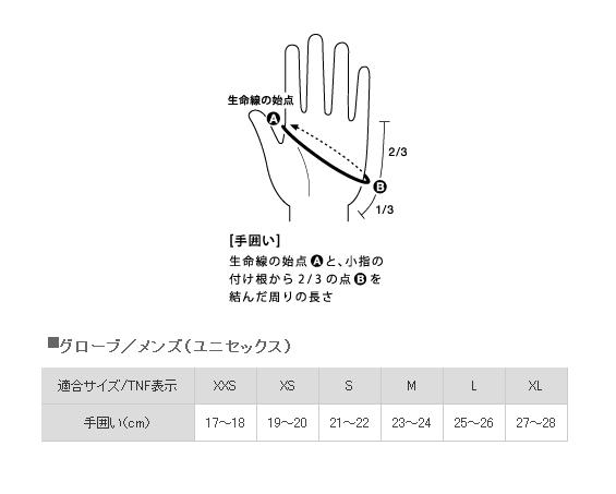 ○ノースフェイス NN61626・イーチップグローブ(ユニセックス)