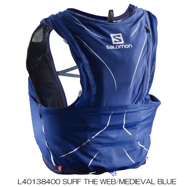 ◎サロモン L40138400・ADV SKIN 12 SET/アドバンススキン12 セット(SURF THE WEB/MEDIEVAL BLUE)【31%OFF】