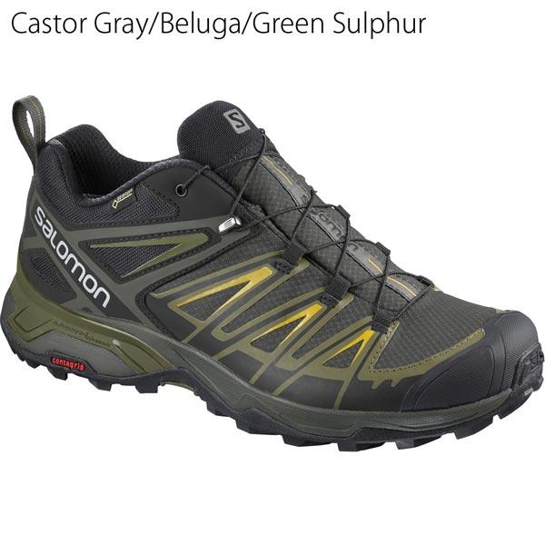 ◎サロモン L40242200・X ULTRA 3 GORE-TEX/Xウルトラ3 ゴアテックス(Castor Gray/Beluga/Green Sulphur)