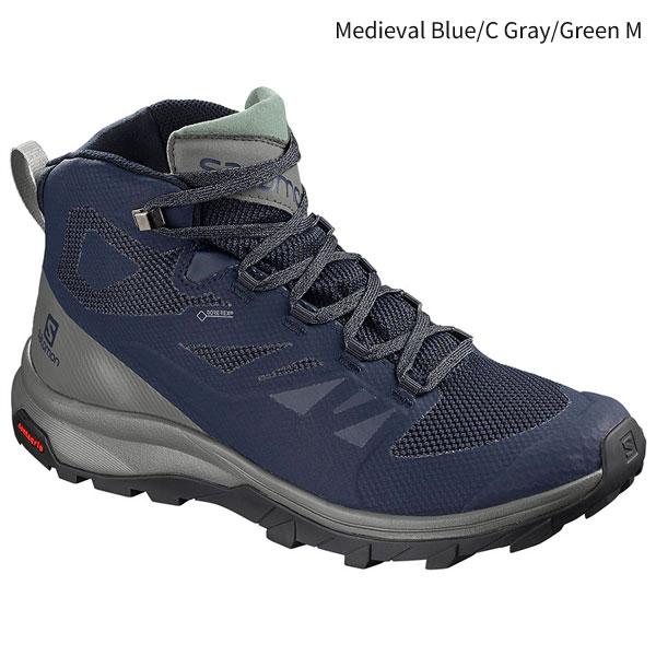 ◎サロモン L40476400・OUTline MID GORE-TEX/アウトラインミッド ゴアテックス(Medieval Blue/Castor Gray/Green Milieu)
