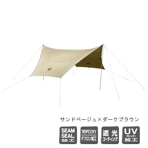 ○○CAMPALJAPAN/キャンパルジャパン3333-80・フィールドタープヘキサDX(サンドベージュ×ダークブラウン)
