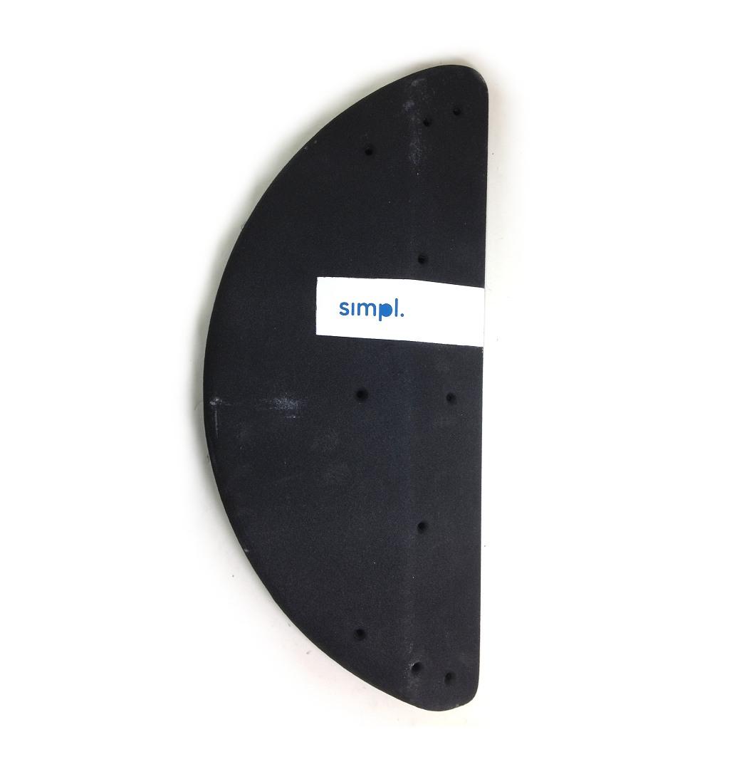 ◇◇SIMPL.・8B Wood Half Circle(ブラック/V-85)【壁のアクセントに最適!】【1個売り】【クライミングホールド】