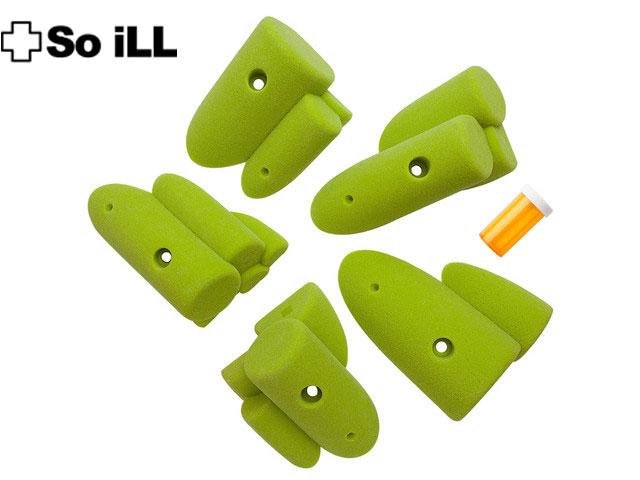 ◇◇So iLL(ソイル)Soill Pipes 3(グリーン/24-36)【5個売り】【クライミングホールド(24)】
