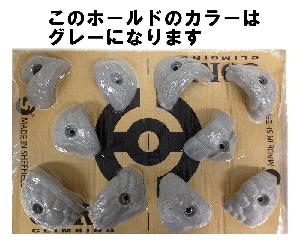 ◇◇CORE(コア)・フォントミニジャグ(グレー/0-17)【10個売り】【クライミングホールド(0)】
