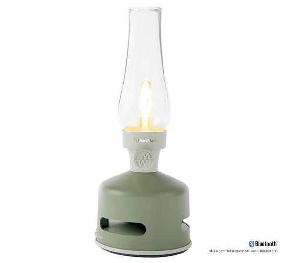 ◇MoriMori FLS-1705-GR・LED ランタンスピーカー(HOUSE GARDEN/グリーン色)