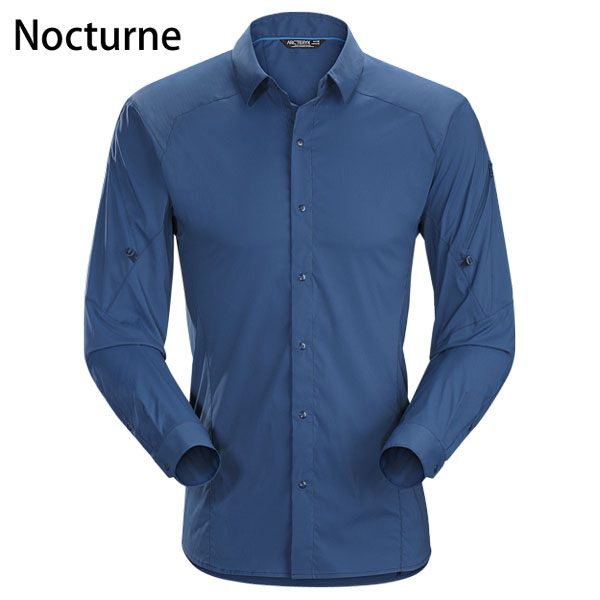 ◎アークテリクス 13652・Elaho LS Shirt Men's/イラオ ロングスリーブシャツ メンズ(Nocturne)L06972600