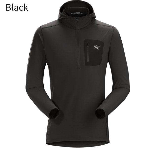 ◎アークテリクス 21760・Rho LT Hooded Zip Neck Men's/ローLTフーデットジップネック メンズ(Black)L07105900