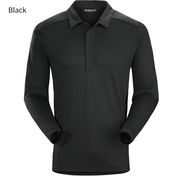 ◎アークテリクス 22890・A2B LS Polo Men's/A2Bロングスリーブポロ メンズ(Black)L07111700