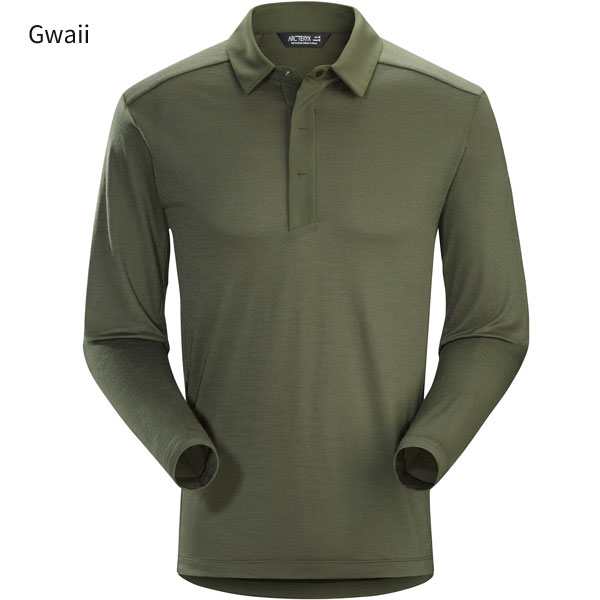 ◎アークテリクス 22890・A2B LS Polo Men's/A2Bロングスリーブポロ メンズ(Gwaii)L07111500