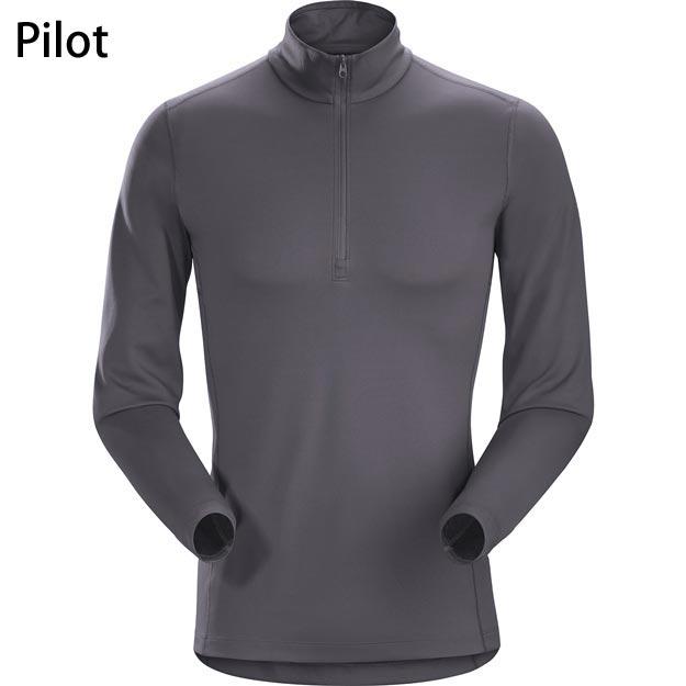 ◎アークテリクス 16261・Phase AR Zip Neck LS Men's/フェーズARジップネック ロングスリーブ メンズ(Pilot)L06880700