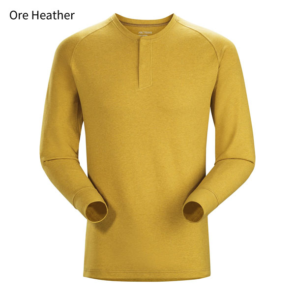 ◎アークテリクス 20765・Sirrus LS Henley Men's/シラス ロングスリーブヘンリー メンズ(Ore Heather)L07268700