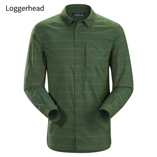 ◎アークテリクス 23018・Riel Shirt LS Men's/リエルシャツ ロングスリーブ メンズ(Loggerhead)L07147200