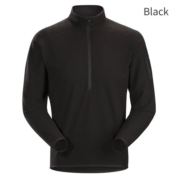 ◎アークテリクス 23137・Delta LT Zip Neck Men's/デルタLTジップネック メンズ(Black)L07167700
