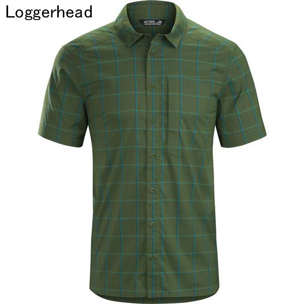 ◎アークテリクス 23019・Riel Shirt SS Men's/リエルシャツ ショートスリーブ メンズ(Loggerhead)L07204600