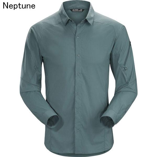 ◎アークテリクス 13652・Elaho LS Shirt Men's/イラオ ロングスリーブ シャツ メンズ(Neptune)L07135000