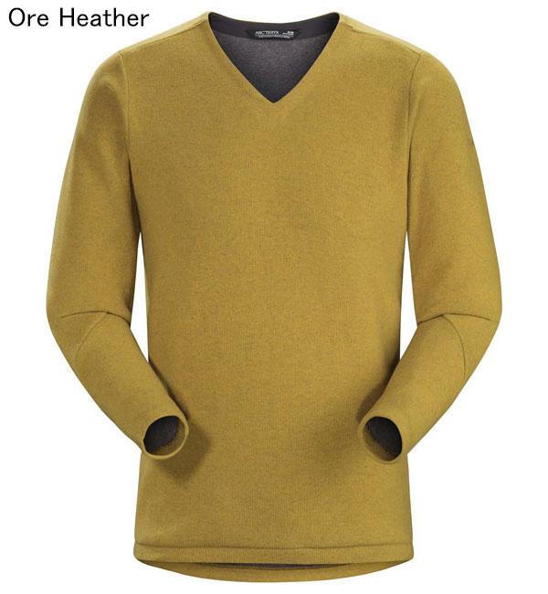 ◎アークテリクス 19713・Donavan V-Neck Sweater Men's/ドノバンVネックセーター メンズ(Ore Heather)L07267500
