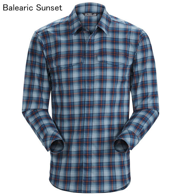 ◎アークテリクス 16898・Gryson LS Shirt Men's/グライソン ロングスリーブシャツ メンズ(Balearic Sunset)L07283200【30%OFF】