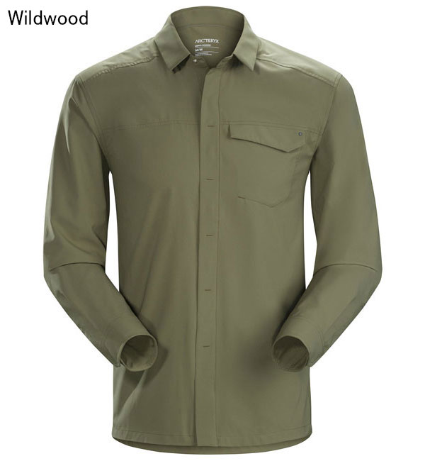 ◎アークテリクス 19065・Skyline LS Shirt Men's/スカイライン ロングスリーブシャツ メンズ(Wildwood)L07266600